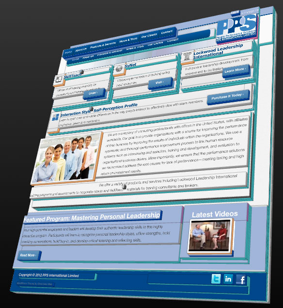 3d View Of The Psi 39 S Home Page Design Greenville Web Design